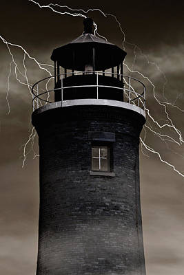 Haunted Lighthouse Art Print by Emily Kay