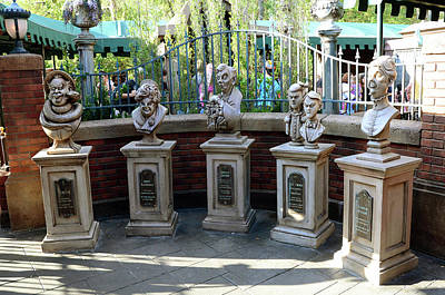 Photograph - Haunted Mansion Characters by David Lee Thompson