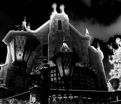 Haunted Mansion Photograph - Haunted Mansion Night by David Lee Thompson