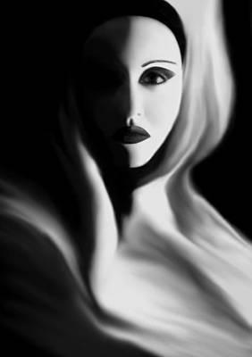Haunted Digital Art - Haunted - Self Portrait by Jaeda DeWalt