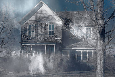 Haunted House Digital Art - Haunted by Theresa Campbell
