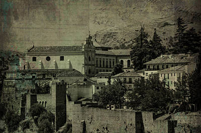 Photograph - Haunted Vintage Ronda by Jenny Rainbow