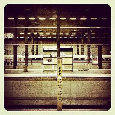 Steel Photograph - Hauptbahnhof Der Haupstadt #berlin by Valnowy Photography