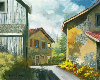 Painting - Haute Savoie Chat by Robert Foster