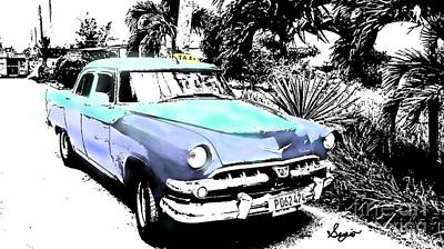 Havana Blues Art Print by Sergio B