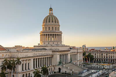 Photograph - Havana Capitolio by Jose  Rey