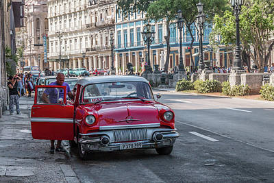 Photograph - Havana Car Lover by David Warrington