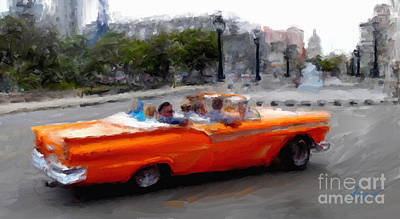 Havana Cars Dos Art Print by Sergio B