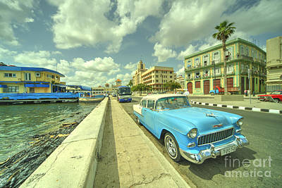 Havana Chevy  Print by Rob Hawkins