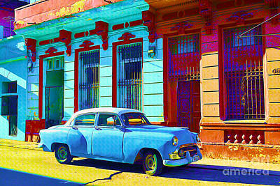 Dilapidated Mixed Media - Havana Classic Car by Chris Andruskiewicz