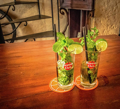 Photograph - Havana Club Mojitos by Bill Howard
