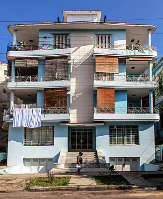 Photograph - Havana Cuba Apartment Building by Charles Harden