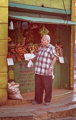 Art Print featuring the photograph Havana Cuba Corner Market by Joan Carroll