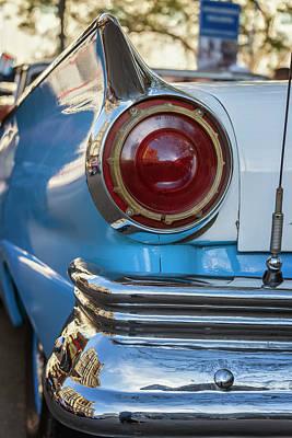 Art Print featuring the photograph Havana Cuba Vintage Car Tail Light by Joan Carroll