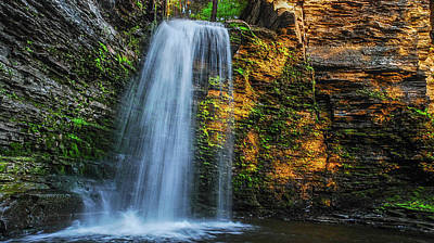 Photograph - Havana Glen's Eagle Cliffs Falls by Optical Playground By MP Ray