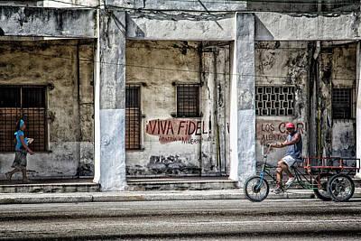 Photograph - Havana Graffiti Street Scene by Gigi Ebert