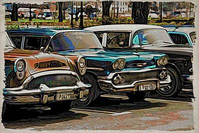 Photograph - Havana Line Up by Alice Gipson