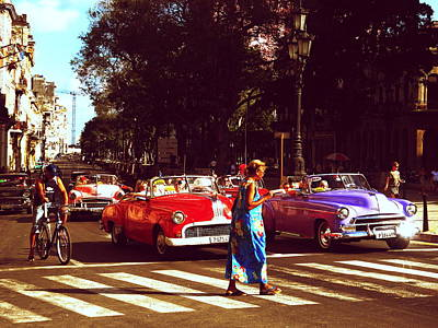 Photograph - Havana On My Mind With Classic American Cars  by Funkpix Photo Hunter