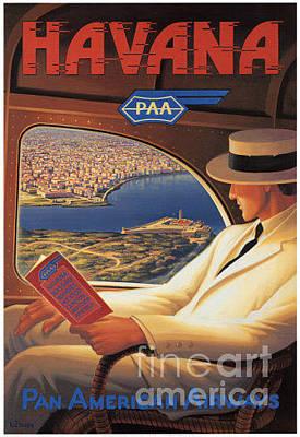 Airways Painting - Havana-pan American Airways by Nostalgic Prints