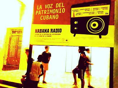 Photograph - Havana Radio Games by Funkpix Photo Hunter