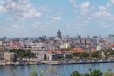 Photograph - Havana Skyline by David Warrington