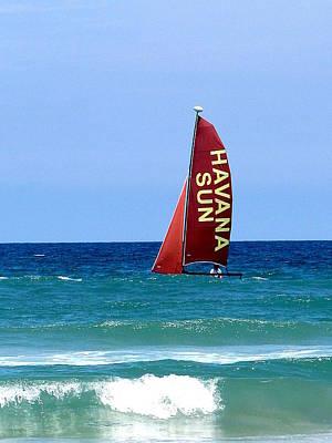 Photograph - Havana Sun Catamaran  000  by Chris Mercer