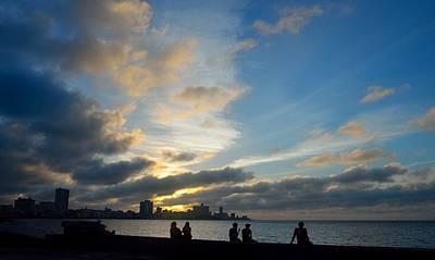 Photograph - Havana Sunset 2 by Steven Richman