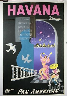 Grateful Dead - Havana Vintage Travel Poster by Celestial Images