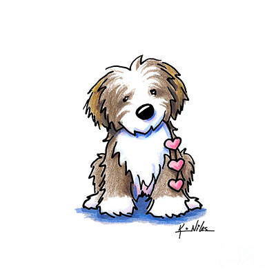 Havanese Heartstrings Art Print by Kim Niles
