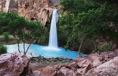 Photograph - Havasu Falls Grand Canyon 2 by Bob Christopher
