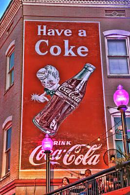 Photograph - Have A Coke - Beale Street Memphis by Allen Beatty