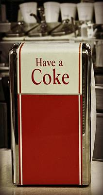 Photograph - Coca Cola Napkin Dispenser by Chris Berry