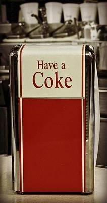 Cherry Coke Photograph - Coca Cola Napkin Dispenser by Chris Berry