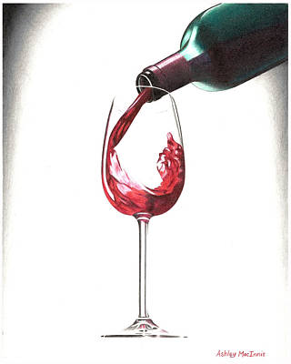 Have A Glass Art Print by Ashley Macinnis