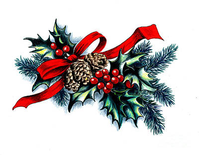 Have A Holly Holly Christmas Art Print by Tobi Czumak