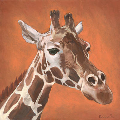 Giraffe Eyes Painting - Have A Long Reach by Nathan Rhoads
