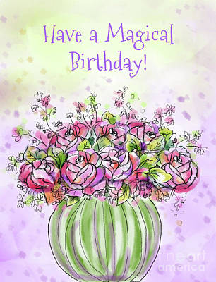 Vale Mixed Media - Have A Magical Birthday by Pam Vale