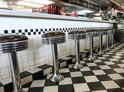 Old Diner Seating Photograph - Have A Seat by Phyllis Taylor
