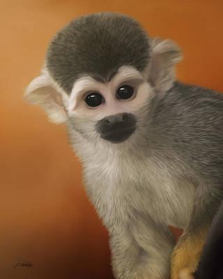 Jordan Painting - Have Fun - Monkey Business Art by Jordan Blackstone