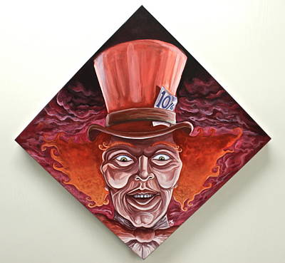 Mad Hatter Painting - Have I Gone Mad? by Alex Kirouac