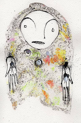 Pen And Ink Illustration Mixed Media - Have Not Got Any Answers Other Than The Ones I Know Are Wrong by Mark M  Mellon