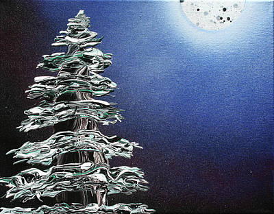 Painting - Have You Ever Seen It Snow On A Clear Night? by Ric Bascobert