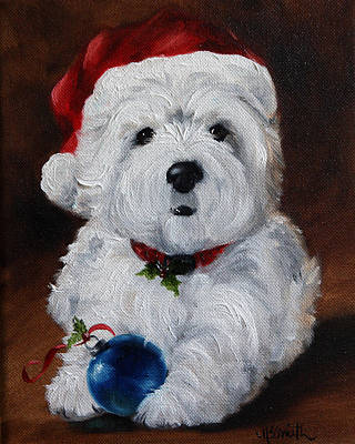 Westies Painting - Have Yourself A Merry Little Christmas  by Mary Sparrow