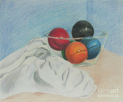 Still Life Drawings - Having a Ball by Alena Turner