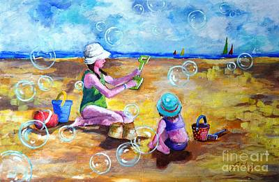 Painting - Childhood  #2 by Betty M M Wong