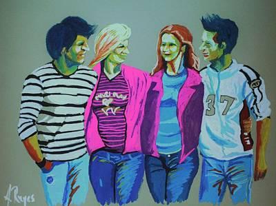 Painting - Having Fun by Angel Reyes