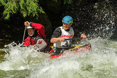 Photograph - Having Fun In Whitewater by Les Palenik