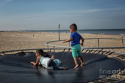 Photograph - Having Fun On A Trampoline by Patricia Hofmeester