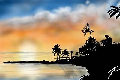 Digital Art - Hawaii Beach by Darren Cannell