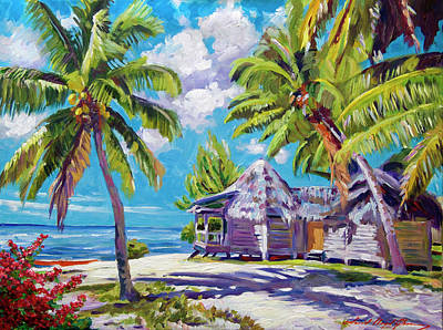 Painting - Hawaii Beach Shack by David Lloyd Glover